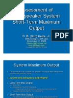 Keele ST Max Output