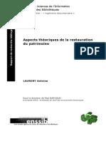 Aspects Theoriques de La Restauration Du Patrimoine (Fr)
