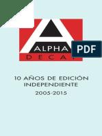 Catálogo_Alpha_Decay_2015.pdf