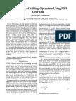 Optimization of Milling Operation Using PSO Algorithm