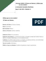 Reseña dos textos Rulfo. Modulo 4