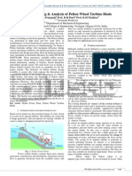 Design, Modeling & Analysis of Pelton Wheel Turbine Blade