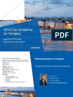 2015 Tax Guideline for Hungary