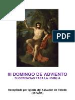 III Domingo de Adviento. Forma extraordinaria del Rito Romano. Sugerencias para la Homilía