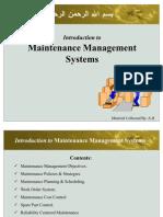 Maintenence Management