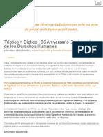 Frente Cívico _Somos Mayoría_ Estatal _ Tríptico y Díptico _ 65 Aniversario Declaración de Los Derechos Humanos