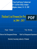 Thailand energy projection 2004-2015