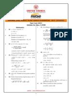 NSTSE Class-11 Solution (PCM)