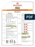 NSTSE Class 1 Solutions