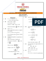 NSTSE Class 8 Solution