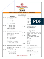 NSTSE Class 7 Solution