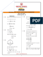 NSTSE Class 10 Solution