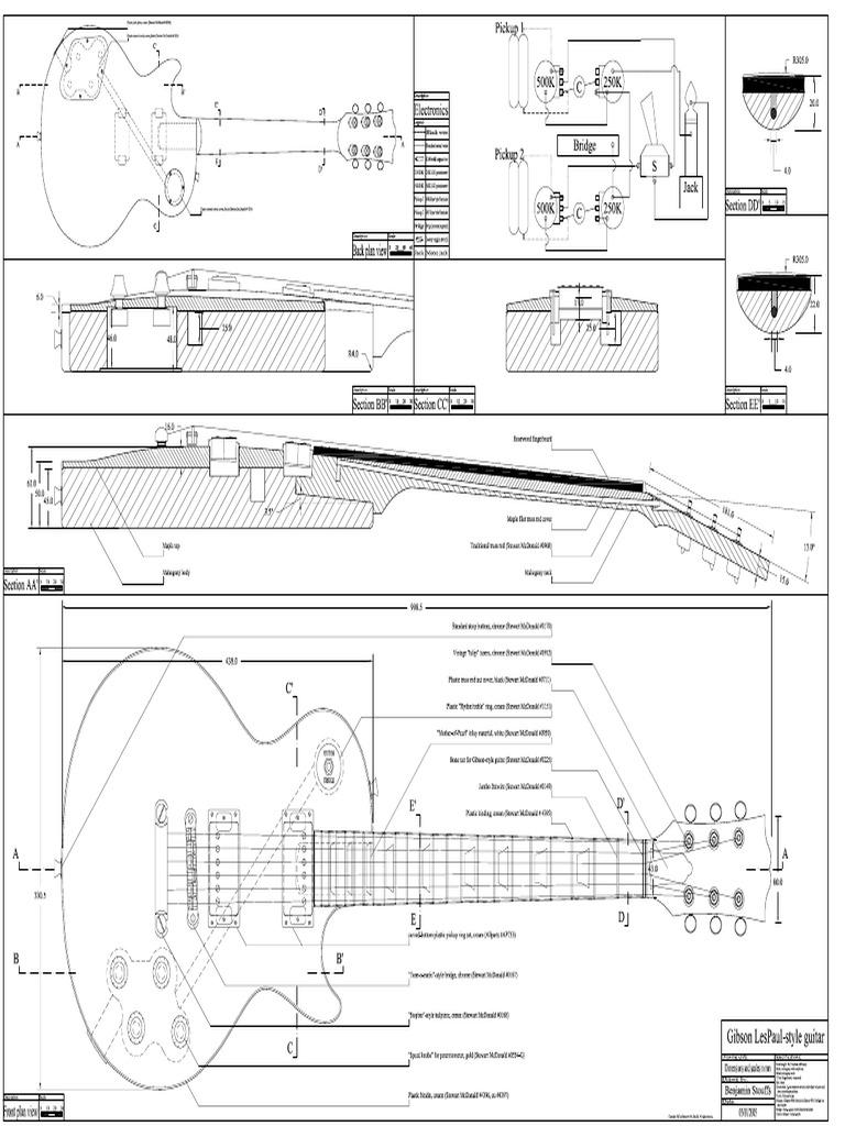 1950sLesPaulPDFblueprint Blueprint