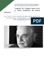 Augusto de Campos - Entrevista GLOBO Julho 2015