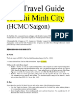 Travel Guide to Ho Chi Minh City