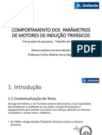 Apresentação de Trabalho de Curso I - Motores Elétricos de Indução