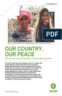 Our Country, Our Peace: Why women must be included in Yemen's peace process