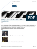 1,000 Jazz Albums You Should Hear Before You Die – The Complete List | Groove Notes