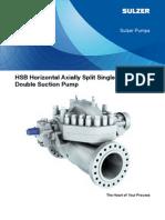 HSB Horizontal Axially Split Single StageDoubleSuctionPump E00608