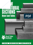 HSS Beam Load Tables Brochure