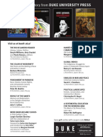 Duke University Press Program Ad for the 2016 Annual Meeting of the American Historical Association