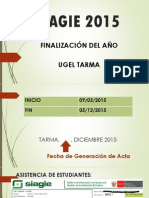 Siagie 2015 Fin de Año
