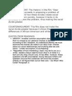 Rhetorical Analysis Draft Paragraphs