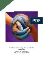 Informe de Actividades Primer Semestre 2008