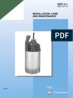 Manual de operación y mantenimiento bomba Flygt