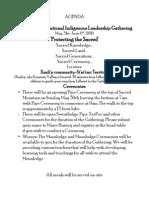 International Indigenous Leadership Gathering 2010 Agenda