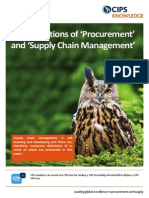 Definitions of Procurement and Scm