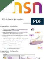 TDD DL Carrier Aggregation Ver2