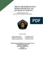Pendidikan Demokrasi Dan Demokratisasi Dalam Masyarakat Madani Cover