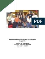 Informe de Actividades Segundo Semestre 2008