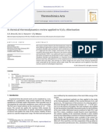 A Chemical Thermodynamics Review Applied to V2O5 Chlorination