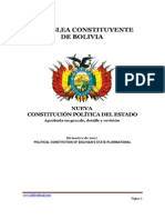 Political Constitution Bolivian's State