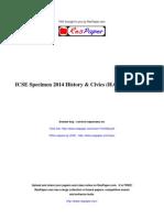 ResPaper ICSE Specimen 2014 History Civics H C G Paper 1