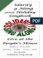 Solidarity Sing Along Songbook, Holiday 2015 edition