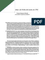Las Tres Reseñas de Fichte Del Otoño de 1793 - Vicente Serrano Martin