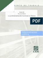 profesionalizacion del trabajo municipal