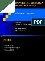 Analisis de Muros de Manoposteria-Tania Castillo- José Reinoso.
