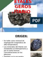 METALES LIGEROS TITANIO