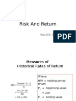 Risk and Return (1)