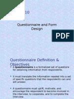 Questionnaire 10