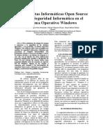 Herramientas Informáticas Open Source Para La Seguridad Informática V5