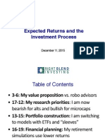 Right Blend Investing - Expected Returns and the Investment Process