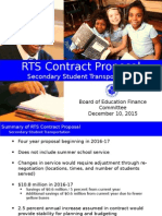 RTS Contract Proposal Summary for BoE Finance Committee 20151210
