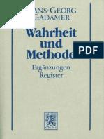 Gadamer-Wahrheit Und Methode 2