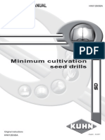 OPERATOR's MANUAL Minimum Cultivation Seed Drills KHUN (SD)