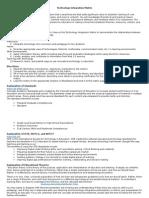tech integration matrix 1 -4